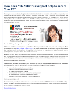 Secure Your PC With AVG Antivirus Support