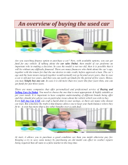 An overview of buying the used car