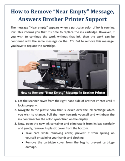 "How to Remove ""Near Empty"" Message, Answers Brother Printer Support"