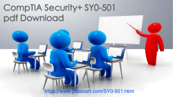 CompTIA Security+ SY0-501 real dumps