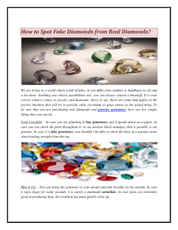 How to Spot Fake Diamonds from Real Diamonds