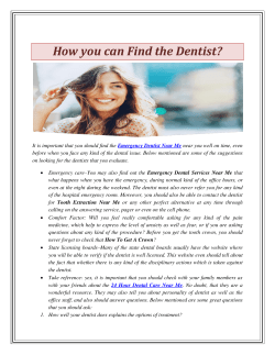 How you can Find a Dentist