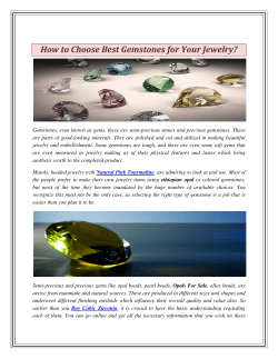 How to Choose Best Gemstones for Your Jewelry