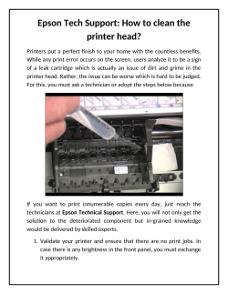 Epson Tech Support How to clean the printer head