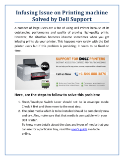 Infusing Issue on Printing machine Solved by Dell Support