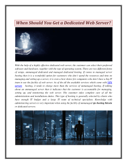 When Should You Get a Dedicated Web Server