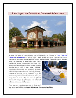 Some Important Facts About Commercial Contractor