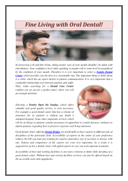 Fine Living with Oral Dental