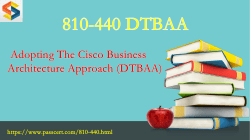 810-440 DTBAA exam dumps