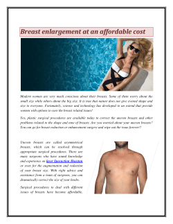 Breast enlargement at an affordable cost