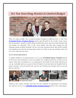 Are You Searching Dentist in Limited Budget