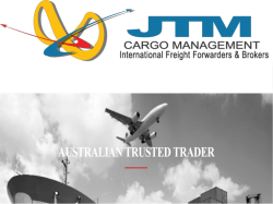 JTM Cargo Management- International Freight Forwarding Company Sydney