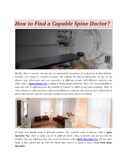 How to Find a Capable Spine Doctor