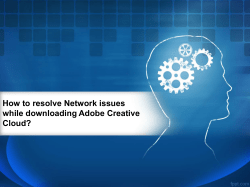 How to resolve Network issues while downloading Adobe Creative Cloud