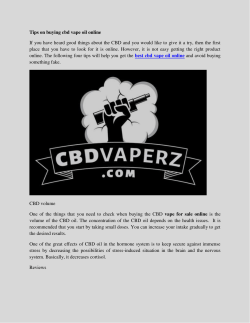 Tips on buying cbd vape oil online