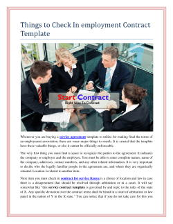 Things to Check In employment Contract Template