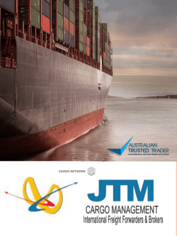 JTM Cargo Management Freight Forwarding Company