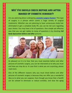 Why You Should Check Before and After Images of Cosmetic Surgery