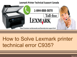 How to Solve Lexmark printer technical error C935