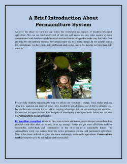 A Brief Introduction About Permaculture System