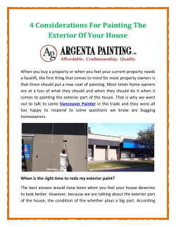 4 Considerations For Painting The Exterior Of Your House