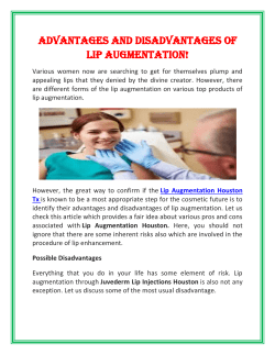 Advantages and Disadvantages of Lip Augmentation