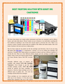 Best Printing Solution With Right Ink Cartridge