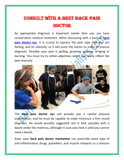 Consult With A Best Back Pain Doctor
