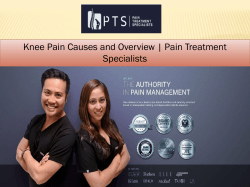 Knee Pain Causes and Overview Pain Treatment Specialists