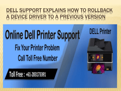 Dell Support Explains How To Rollback A Device