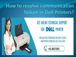 How to resolve communication failure in Dell Printers - Copy