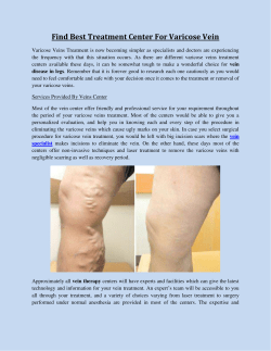 Find Best Treatment Center For Varicose Vein