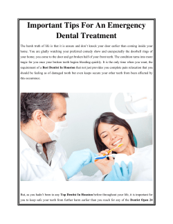 Important Tips For An Emergency Dental Treatment