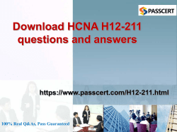 H12-211 HCNA questions and answers