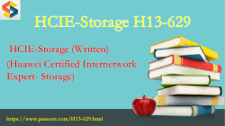 HCIE-Storage H13-629 free download