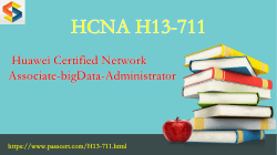 HCNA-bigData H13-711 free download