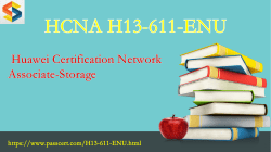 HCNA-Storage H13-611-ENU free download