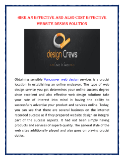 Hire An Effective and also Cost Effective Website Design Solution