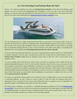 Are You Searching Used Pontoon Boats for Sale