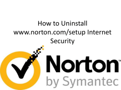 How to Uninstall Norton Internet Security (1)