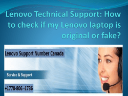 How to check if my Lenovo laptop is original or fake