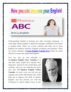 How you can improve your English