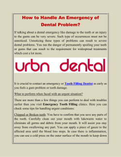 How to Handle An Emergency of Dental Problem