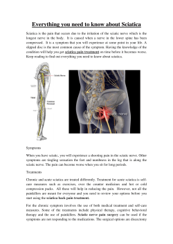 Everything you need to know about Sciatica[1]