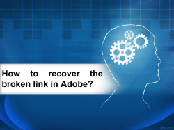 How to recover the broken link in Adobe-converted