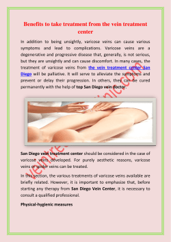 Benefits to take treatment from the vein treatment center