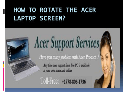 How To Rotate The Acer Laptop Screen-converted