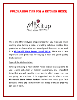 Purchasing Tips For a Kitchen Mixer