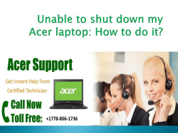 Unable to shut down my Acer laptop-converted