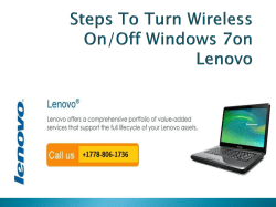Steps To Turn Wireless OnOff Windows 7on Lenovo